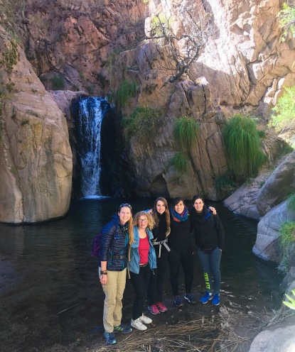 Our hiking group at one of the falls.
