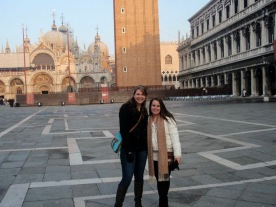 A friend and I in St. Marks Square